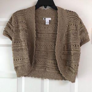 Pointelle knitted shrug